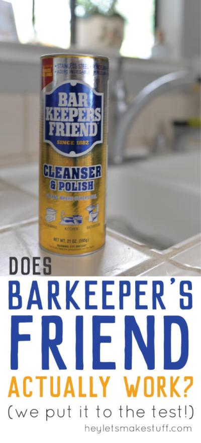 If you have a difficult to clean porcelain sink, you'll want to see this transformation using Barkeeper's Friend!