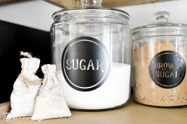 sugar pantry label