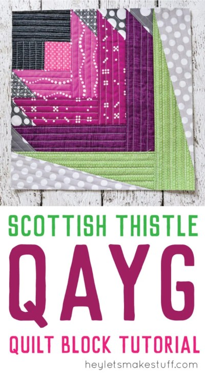 Quilt-As-You-Go is way more versatile than you might think! Here's how to quilt a Scottish Thistle block. Get this and other quilting and sewing tutorials.