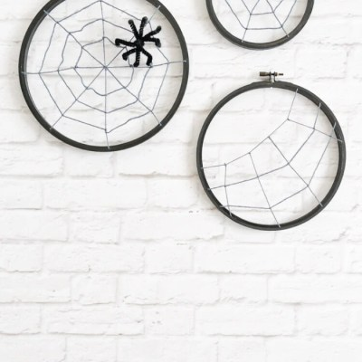 Spooky Spider Web Hoops