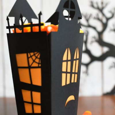 Haunted House Cut Paper Candy Box