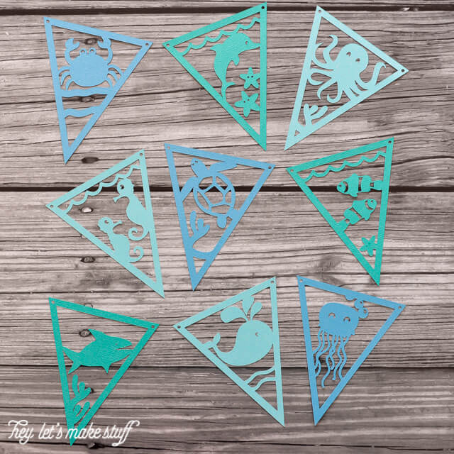 Get these Under the Sea pennants to cut on your Cricut or Silhouette! Perfect for nurseries or showers.