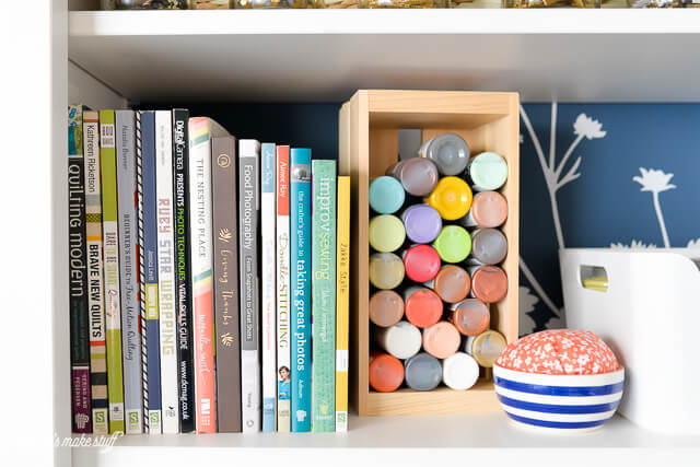 Come and take a tour of my craft room! I love my crafty space -- I sew, craft, DIY, and do all sorts of making in my happy space.