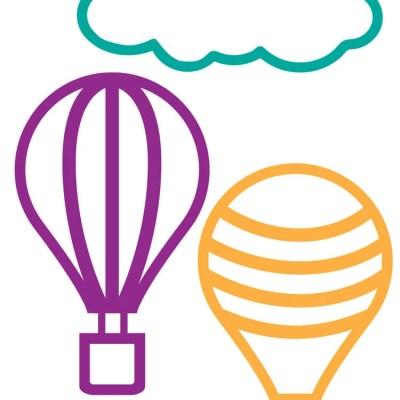 Hot Air Balloon Cut Files