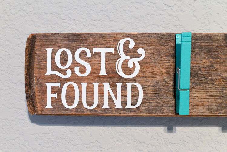 Tired Tired of lost socks? Make it easier for them to find their sole mates by building this lost and found sock holder!of lost socks? Make it easier for them to find their sole mates by building this lost and found sock holder!