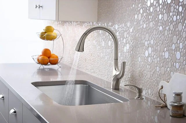 Thanks to Kohler, we're planning our kitchen renovation and today I'm talking faucets! Here are three of the Kohler faucets we're thinking about getting.