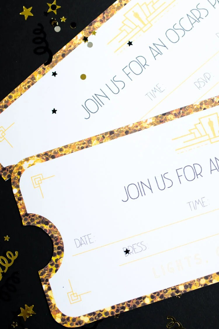Throwing an Oscars party this year? These printable Oscar invitations are the perfect way to invite your friends to walk your own red carpet! Lots of other Oscars ideas in this post as well.