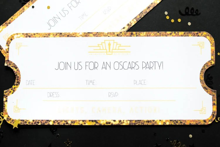 Oscars party invitation