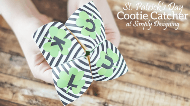 St Patrick's Day Cootie Catcher | Simply Designing