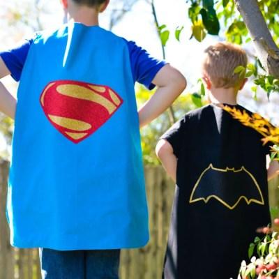 Batman v Superman Superhero Capes
