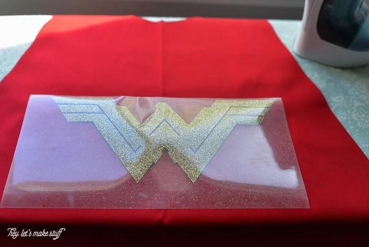 Wonder Woman logo on cape