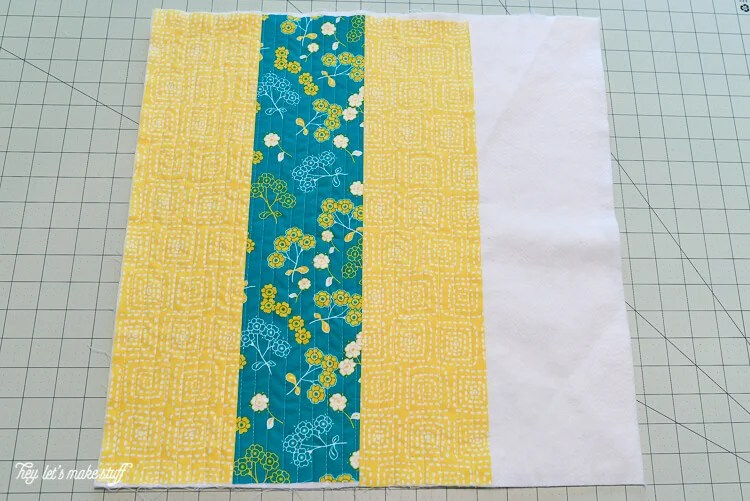 step 4 - Quilt-As-You-Go with big stripes panel