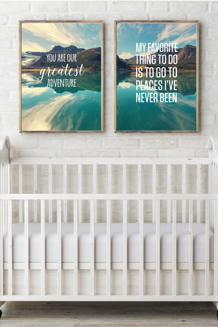 Download thDownload the free PDF files for these two Mountain Adventure prints, perfect for a nursery or kid's room!e free PDF cut files for these two Mountain Adventure prints, perfect for a nursery or kid's room!