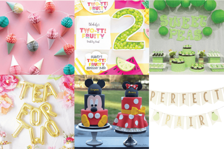 e54ca7b78 Throwing a birthday party for twins is double the fun! Here are a bunch of
