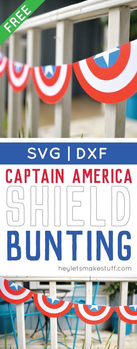 Captain America SVG cut file bunting pin image