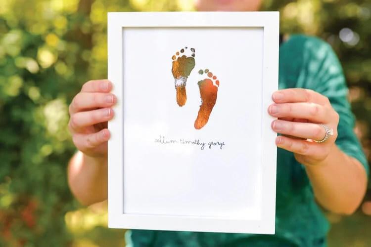 foiled footprint art