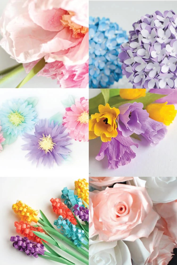 how to make tissue paper flowers four ways