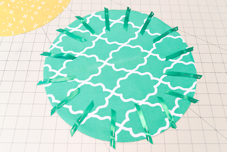 DIY cinched pineapple purse step 5