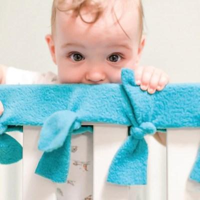 Easy No-Sew Fleece Crib Rail Covers