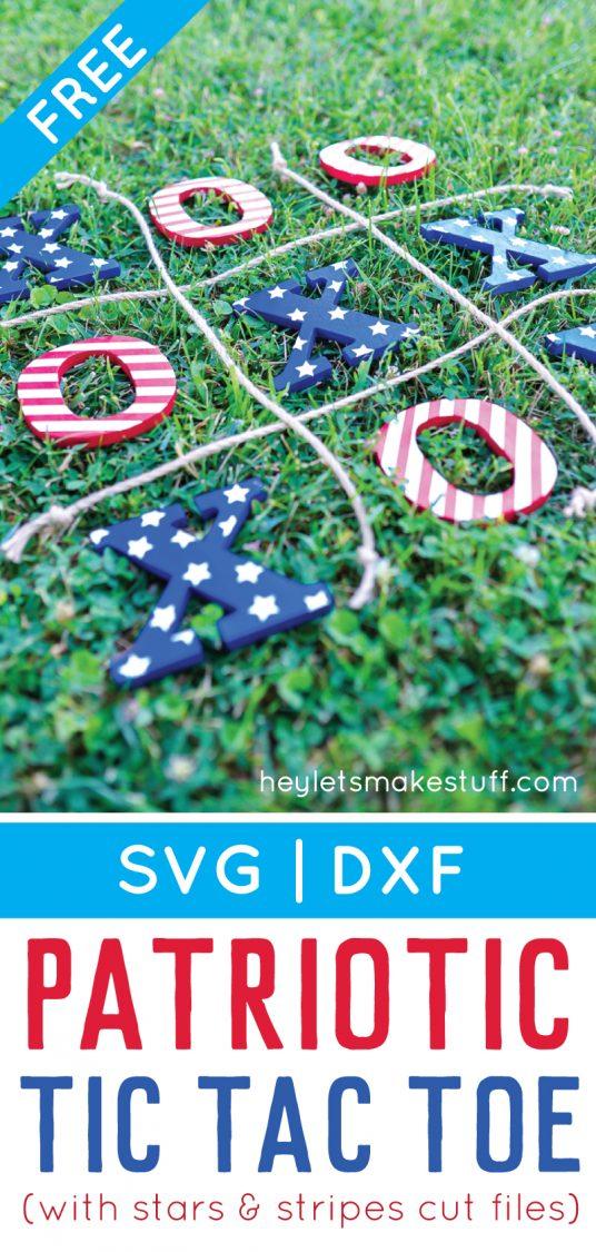 DIY 4th of July tic tac toe lawn game pin image