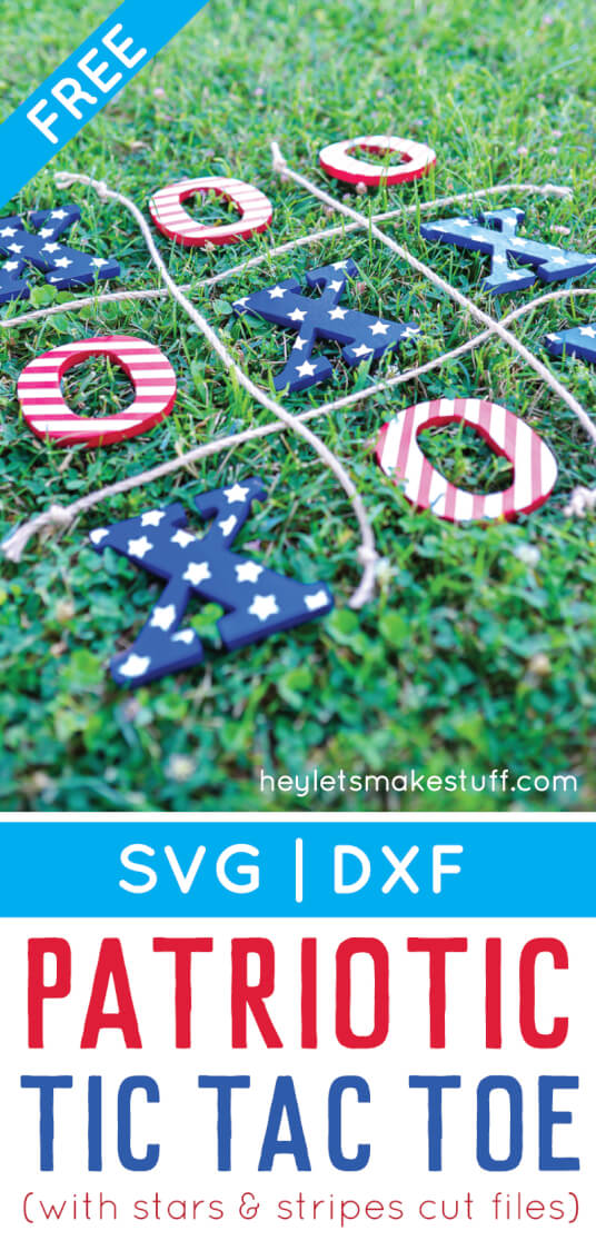 This 4th of July tic tac toe is the perfect easy-to-carry game to bring to a patriotic picnic, barbecue, or fireworks celebration! via @heyletsmakestuf