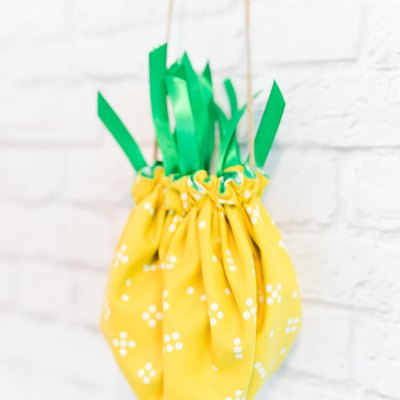 Tiny Cinched Pineapple Purse
