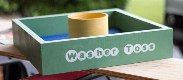 DIY washer toss game for outdoor fun