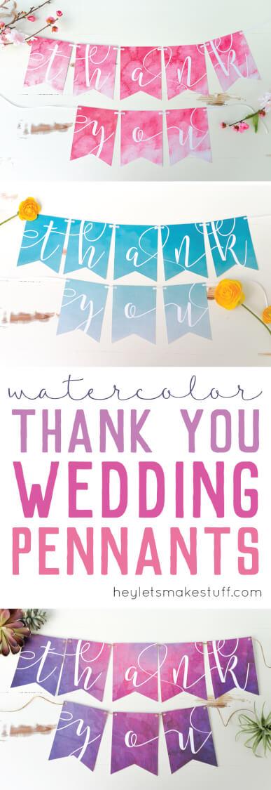 DIY wedding banners using Cricut Explore's Print Then Cut feature pin image