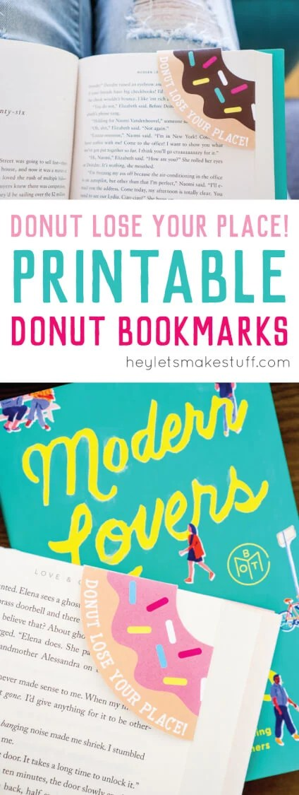 Let these fun printable donut bookmarks help you remember where you left off in your delicious novel! A free (and yummy!) download. via @heyletsmakestuf