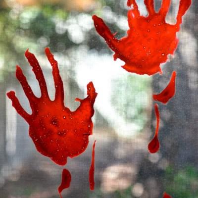 Bloody Handprint Window Clings