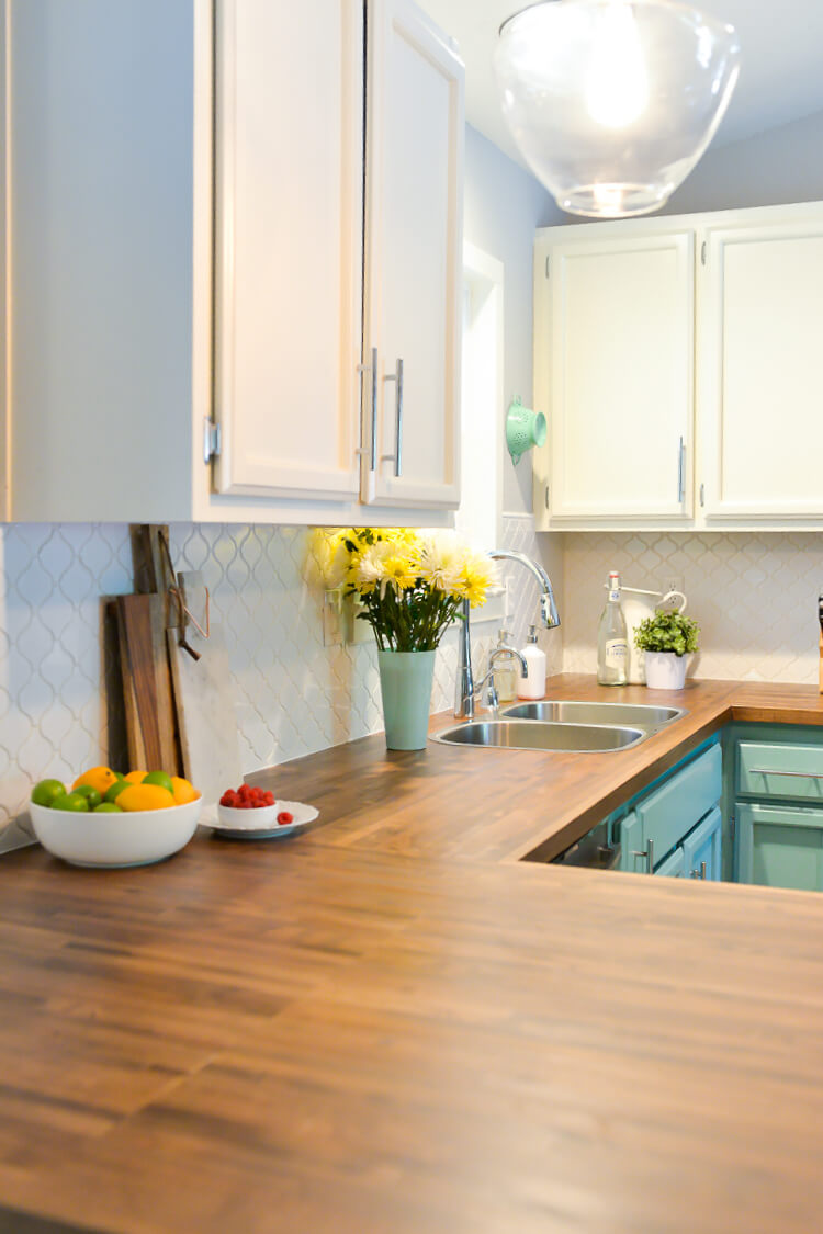 How To Install Butcher Block Countertops Hey Lets Make