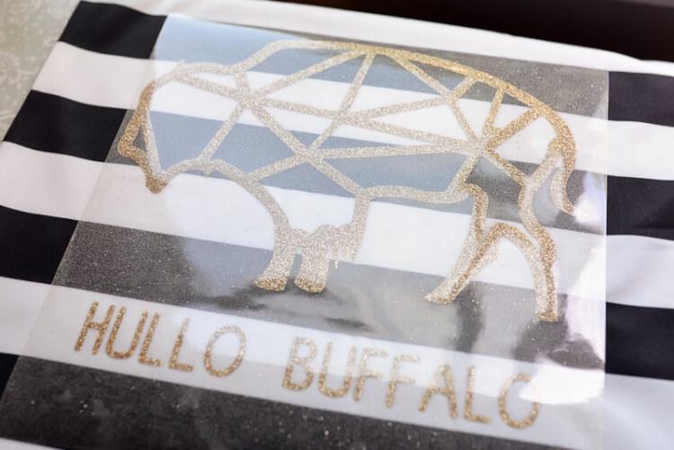 cut hullo buffalo SVG glitter vinyl cutout
