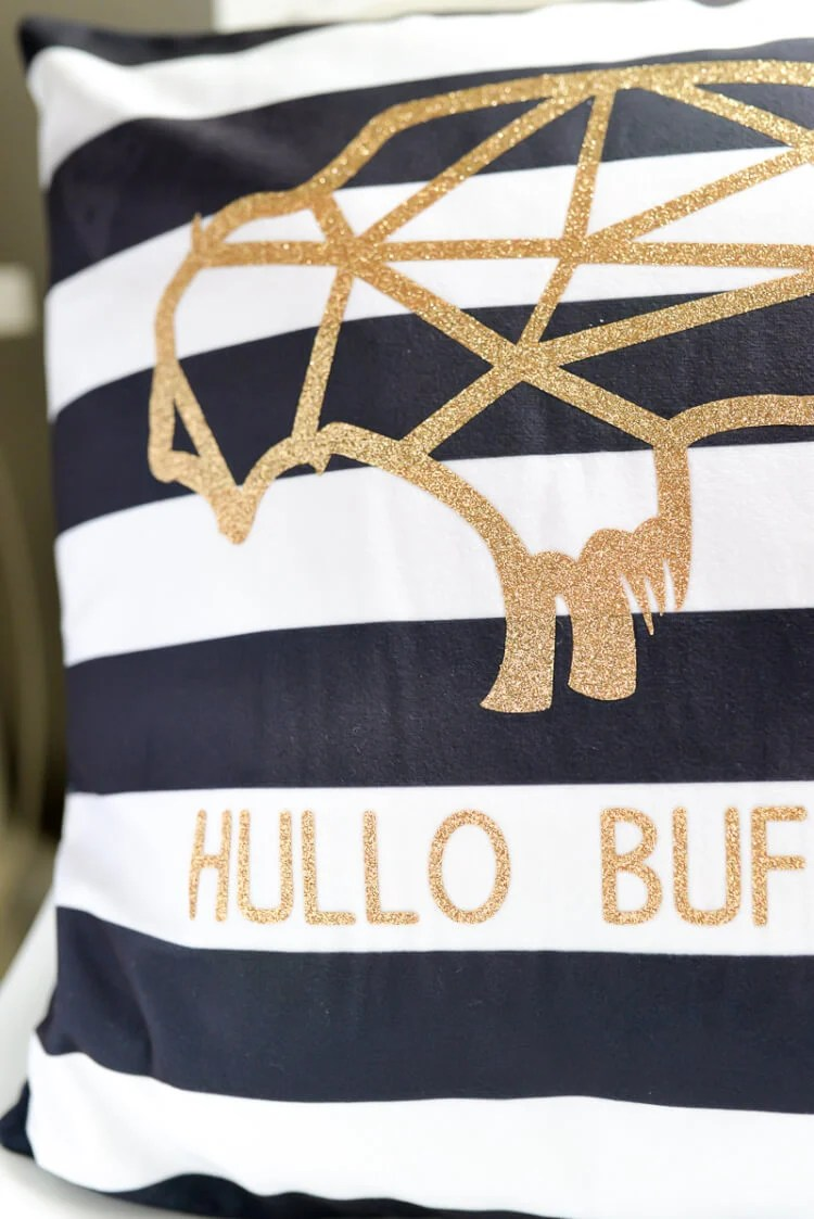 hullo buffalo SVG glitter vinyl cutout
