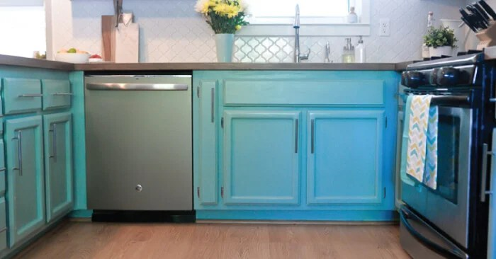 How To Paint Cabinets Using Latex Paint And A Paint
