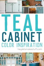 Take a look at these gorgeous teal kitchens. Painting your cabinets a fun shade of teal might feel like a big risk — but with big risk comes big reward!
