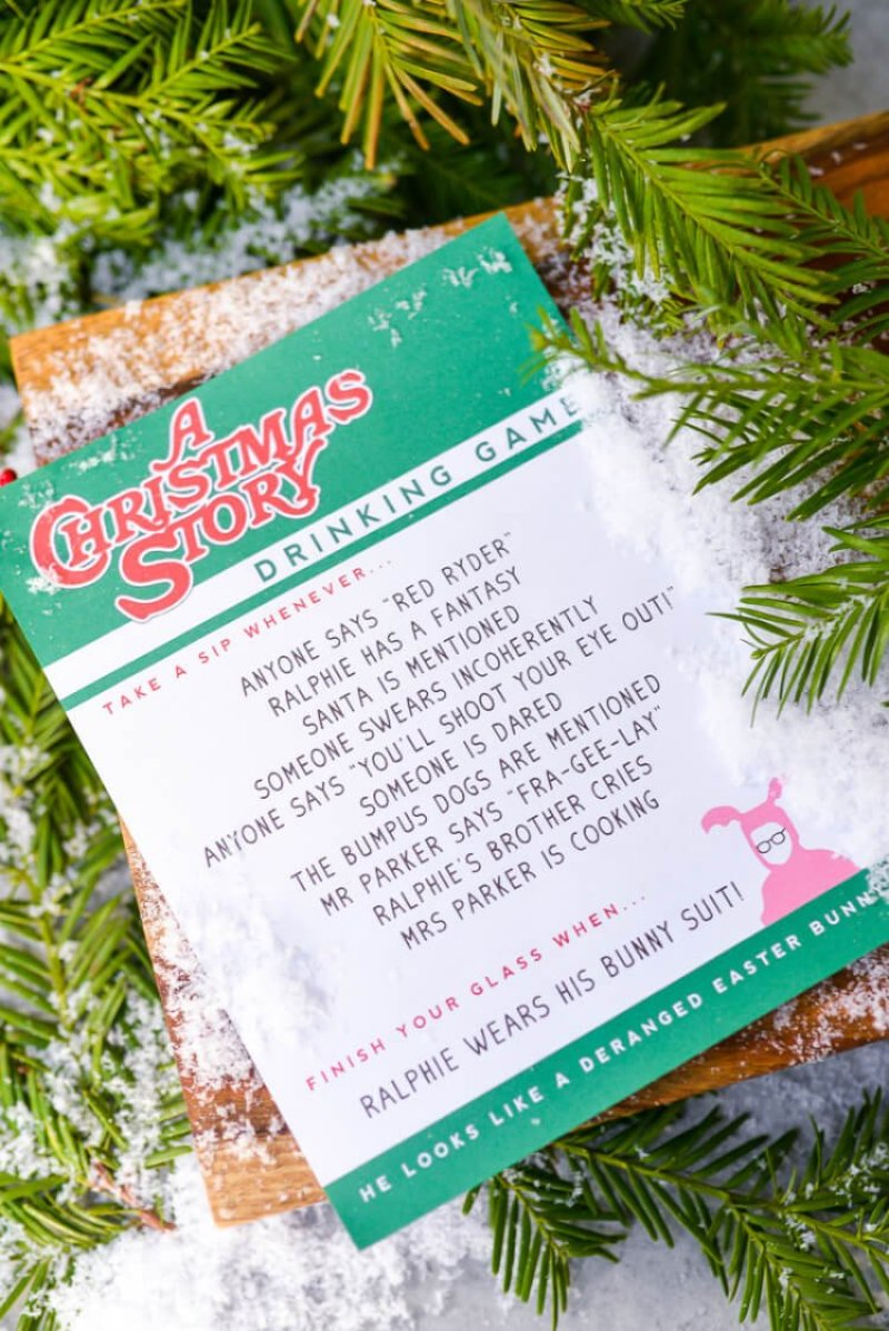 Story Of Christmas.A Christmas Story Drinking Game Hey Let S Make Stuff