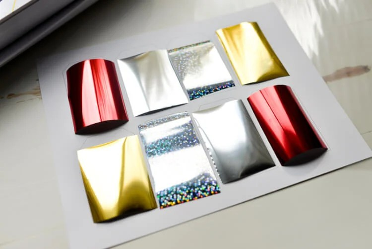 foil for gift tags
