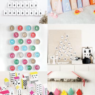 DIY Modern Advent Calendars