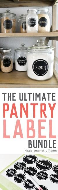 pantry label bundle