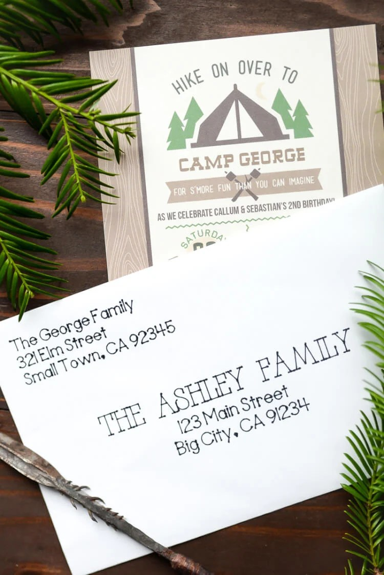 """Put your Cricut Explore to work—have it address your birthday invitations! Using the pen tool, the Cricut Explore can beautifully """"hand letter"""" your invitations for you."""