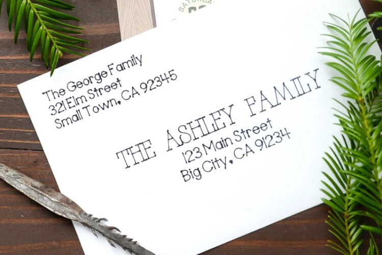 How To Address Invitations Using The Cricut Explore Hey Let S
