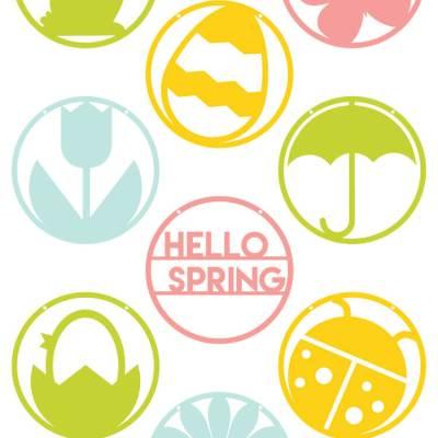 Hello Spring Pennants