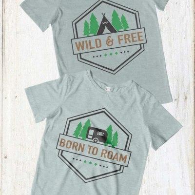 Camping Shirt Decals