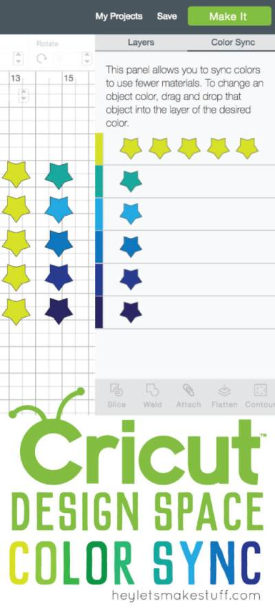 Use the Cricut Design Space Color Sync feature to re-color, match, or consolidate material colors. This new feature saves you time and wasted materials!