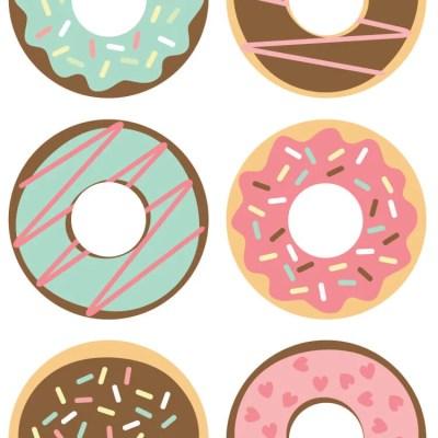 Donut Cut Files + Clip Art – Freebie Friday