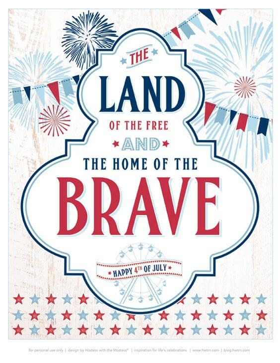 Country Fair Prints - Celebrate the 4th of July with these free patriotic printables! Get more than 20 red, white, and blue printables from your favorite bloggers!