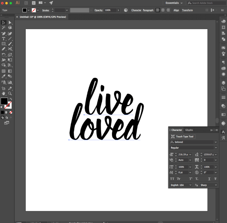How to Change Fonts in Illustrator - Learn the basics for creating a simple SVG cut file in Illustrator that can then be cut using a Cricut Explore or Silhouette Cameo.