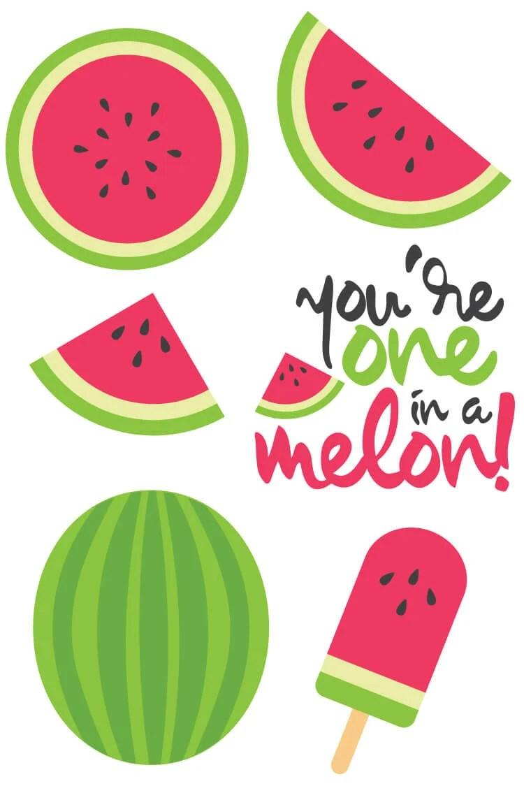 photograph regarding Watermelon Printable identify Watermelon Slash Documents + Clip Artwork - Freebie Friday - Hey