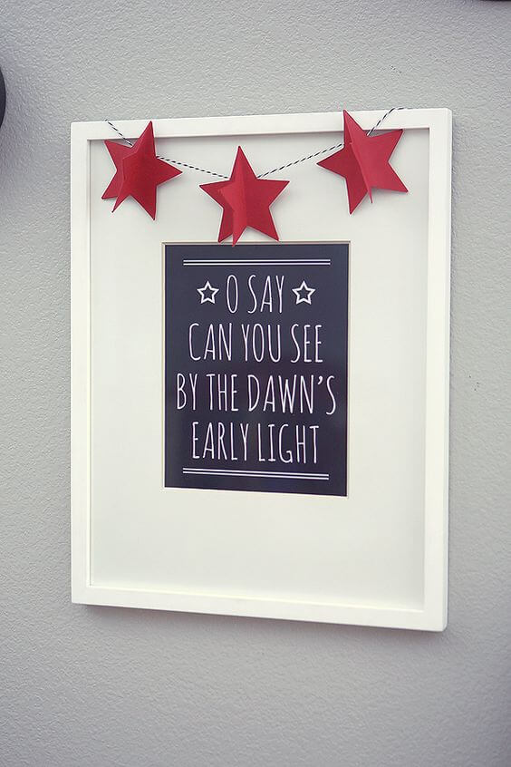 eighteen25 National Anthem Print - Celebrate the 4th of July with these free patriotic printables! Get more than 20 red, white, and blue printables from your favorite bloggers!