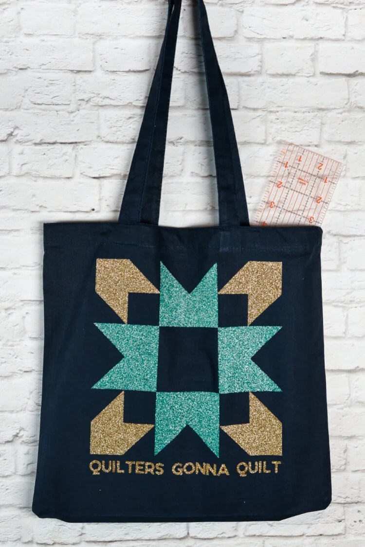 The perfect cut file for your favorite quilter! Turn this free SVG/DXF into a quilting tote bag, a car decal, or a cute t-shirt to share your love of quilting with the world!